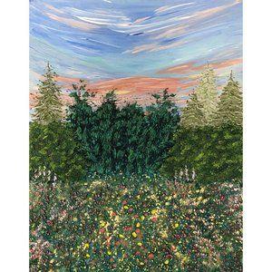 Sunrise Stroll, Original Painting, Acrylic 11 x 14